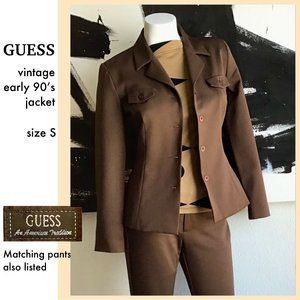 Vintage Guess suit jacket -Size S (see pant also)
